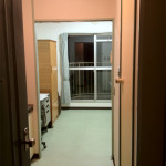 The entryway to your room. On one side is a closet and your unit bathroom.